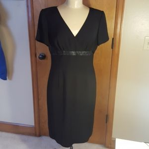 Adrianna Papell black, short sleeve dress.